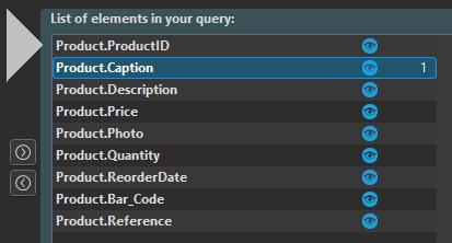 Condition in the query description window
