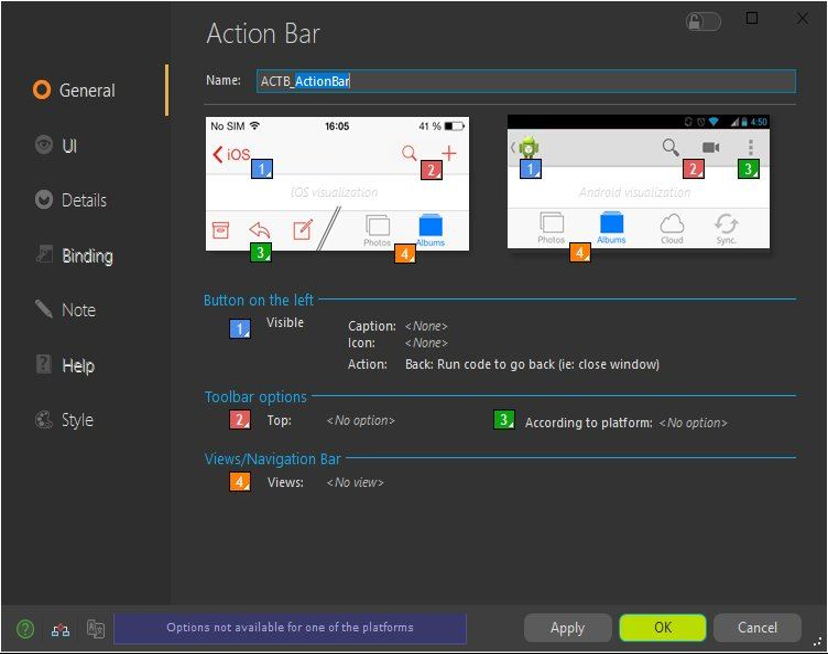 Action Bar description