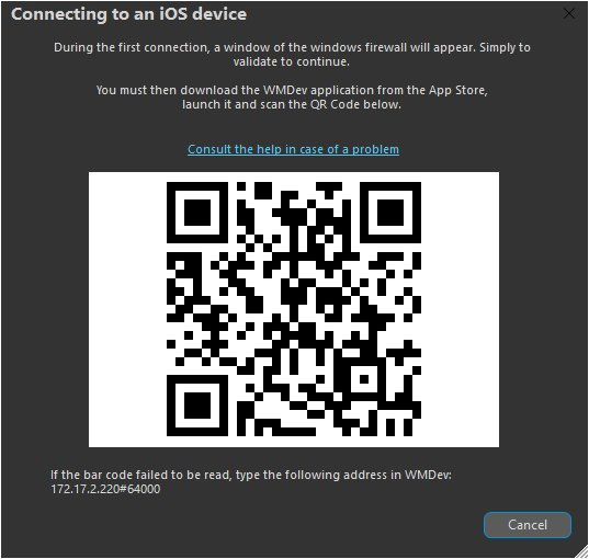 Connecting to an iOS device