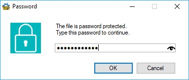 Password input