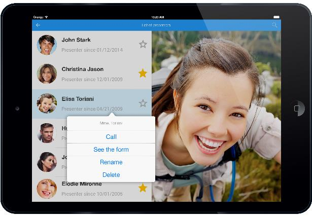 Popup menu on iPad